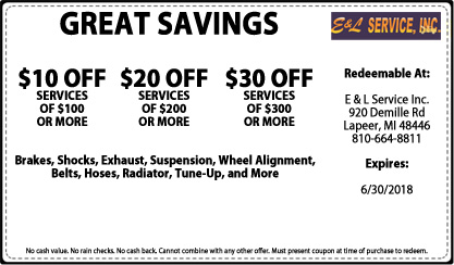 Great Savings on Auto Repair & Maintenance Services