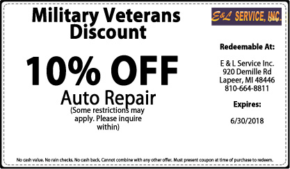 Military Veteran's Discount - 10% OFF Auto Repair