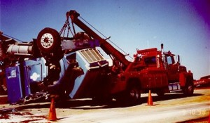 rolled-over-rig